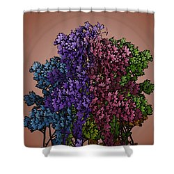Wonderful Colors 1 Shower Curtain by Pepita Selles