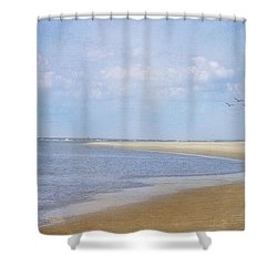 Wonderful World Shower Curtain