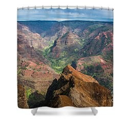 Wonders Of Waimea Shower Curtain by Suzanne Luft