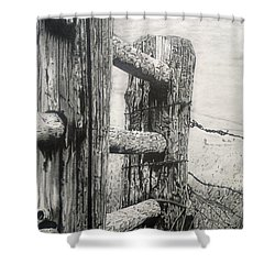Wood And Wire Shower Curtain