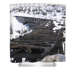 Shower Curtain featuring the photograph Wood Bridge by Brian Williamson