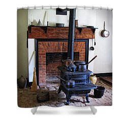 Wood Burning Stove Shower Curtain by Dave Mills