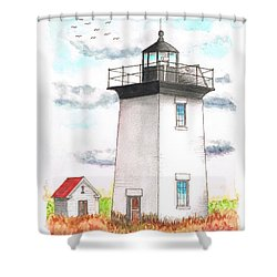 Wood End Lighthouse - Massachusetts Shower Curtain