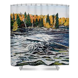 Wood Falls 2 Shower Curtain