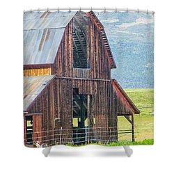 Wood Iron And Hayloft Shower Curtain