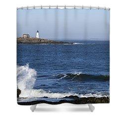 Wood Island Light Shower Curtain