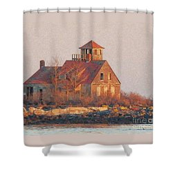 Wood Island Shower Curtain