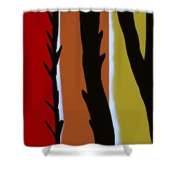 Shower Curtain featuring the digital art Wood L by Christine Fournier