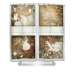 Wood Shower Curtain by Les Cunliffe
