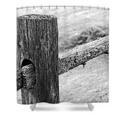 Wood Railing Shower Curtain