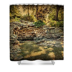 Woodard Park Koi Pond Shower Curtain by Tamyra Ayles