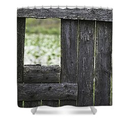 Wooden Blind Shower Curtain
