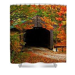 Wooden Bridge Shower Curtain by Bill Howard