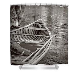 Wooden Canoe Shower Curtain by Edward Fielding