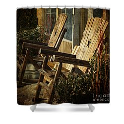 Wooden Chairs Shower Curtain