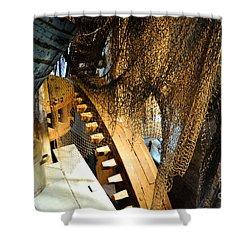 Wooden Gears Shower Curtain