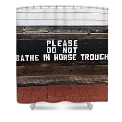Shower Curtain featuring the photograph Wooden Horse Trough by Sue Smith