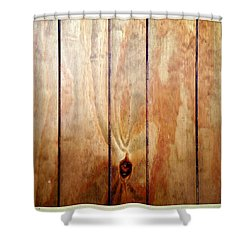 Wooden Panel Shower Curtain by Les Cunliffe