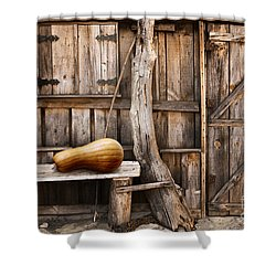 Wooden Shack Shower Curtain by Carlos Caetano