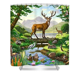 Woodland Harmony Shower Curtain