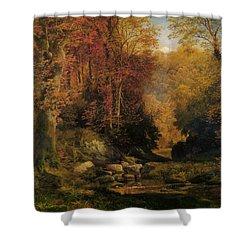 Woodland Interior Shower Curtain by Thomas Moran