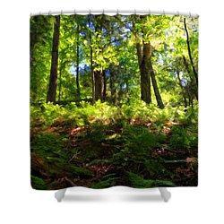 Woodland Shower Curtain by Lars Lentz