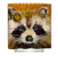 Woodland Racoon Shower Curtain