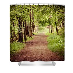 Woodland Trail Shower Curtain by Sara Frank