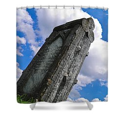 Woodstone Shower Curtain by Nick Kirby