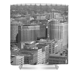Woodward Avenue Bw Shower Curtain