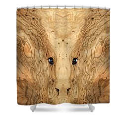 Woody 38 Shower Curtain by Rick Mosher