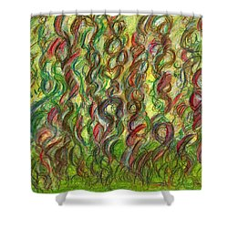 Wooing Nature Shower Curtain by Kelly K H B