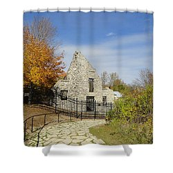 Shower Curtain featuring the photograph Woolen Mill Ruins by Betty-Anne McDonald
