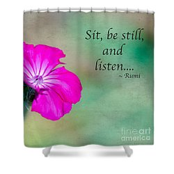 Words From Rumi Shower Curtain