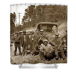 Workers On Highway One Monterey Carmel Hill California 1929 Shower Curtain