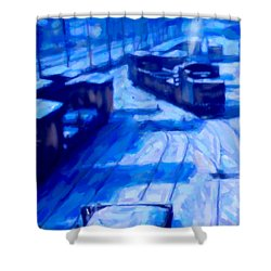 Working By Moonlight Shower Curtain