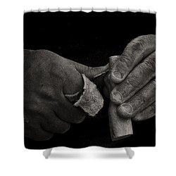 Working Hands Shower Curtain