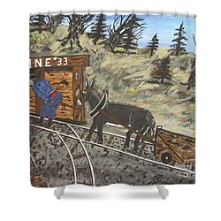 The Coal Mine Shower Curtain by Jeffrey Koss