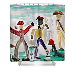 Working Shower Curtain by Mary Carol Williams
