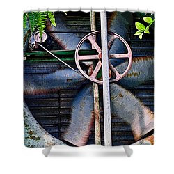 Working Old Fan Shower Curtain