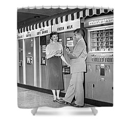 Workplace Snack Break Shower Curtain by Underwood Archives