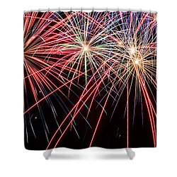 Works Of Fire II Shower Curtain by Ricky Barnard