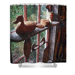Workshop Window Shower Curtain by Brian Wallace