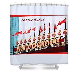 World Champions Flags Shower Curtain