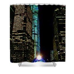 World Financial Center Shower Curtain by Mariola Bitner