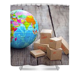 World Import And Export Shower Curtain by Aged Pixel