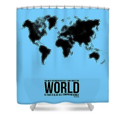 World Map Poster Shower Curtain by Naxart Studio