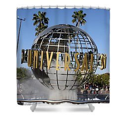 World Of Universal Shower Curtain by David Nicholls