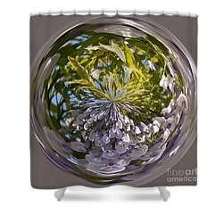 World Of Wisteria Shower Curtain by Anne Gilbert