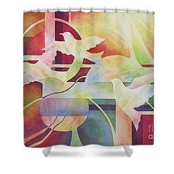 World Peace 2 Shower Curtain by Deborah Ronglien